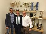 Radostin Stoytchev, il Presidente Diego Mosna ed il General Manager Bruno Da Re